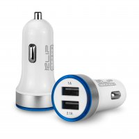 Dual USB car | charger with LED