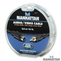 Manhattan, 10 ft. S-Video Male to RCA Male Cable