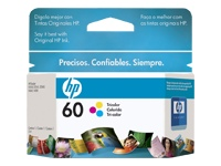 HP 60 - Print cartridge - 1 x color (cyan, magenta, yellow) - 16