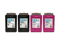 HP 122 - Print cartridge - 1 x yellow, cyan, magenta - 100 pages